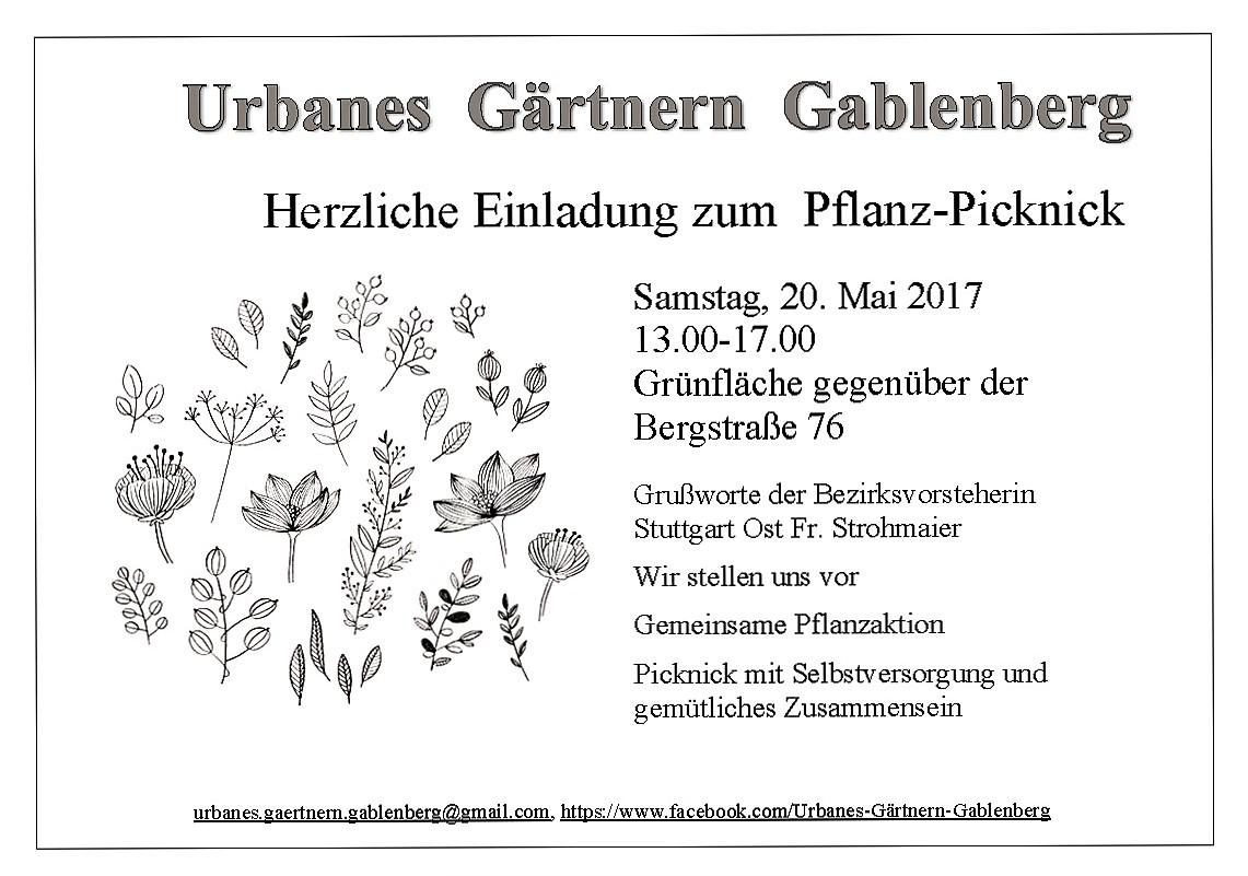 einladung pflanz-picknick am 20. mai | soziale-stadt-gablenberg, Einladung