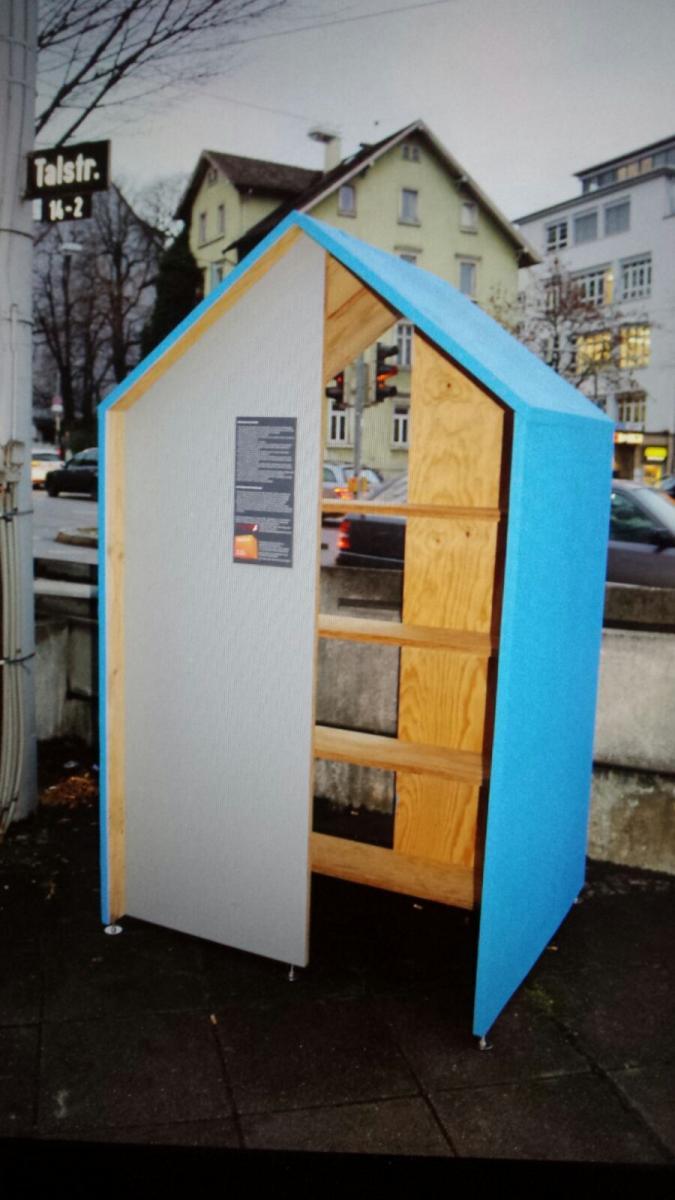 eine give box f r den stadtteil wurde am do beim gablenberger eck eingeweiht soziale. Black Bedroom Furniture Sets. Home Design Ideas
